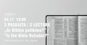 Ar Biblija yra patikima? @ VDU Politikos mokslų ir diplomatijos fakultetas